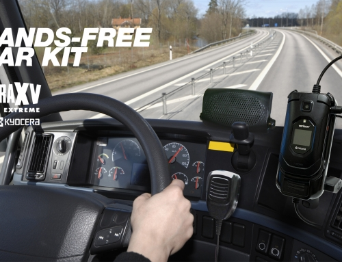 The new hands-free Car-Kit for Kyocera Dura XV Extreme